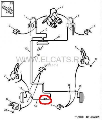 renault symbol регулировка компенсатора тормозных сил.